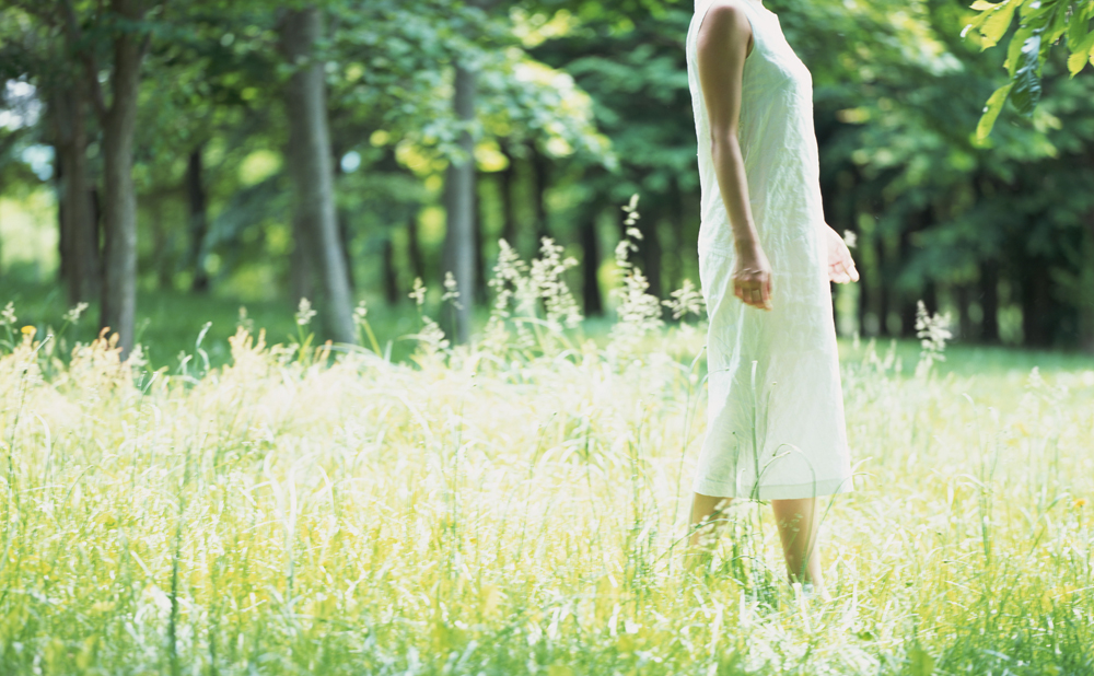 El nacimiento de las Mori girls, bosque