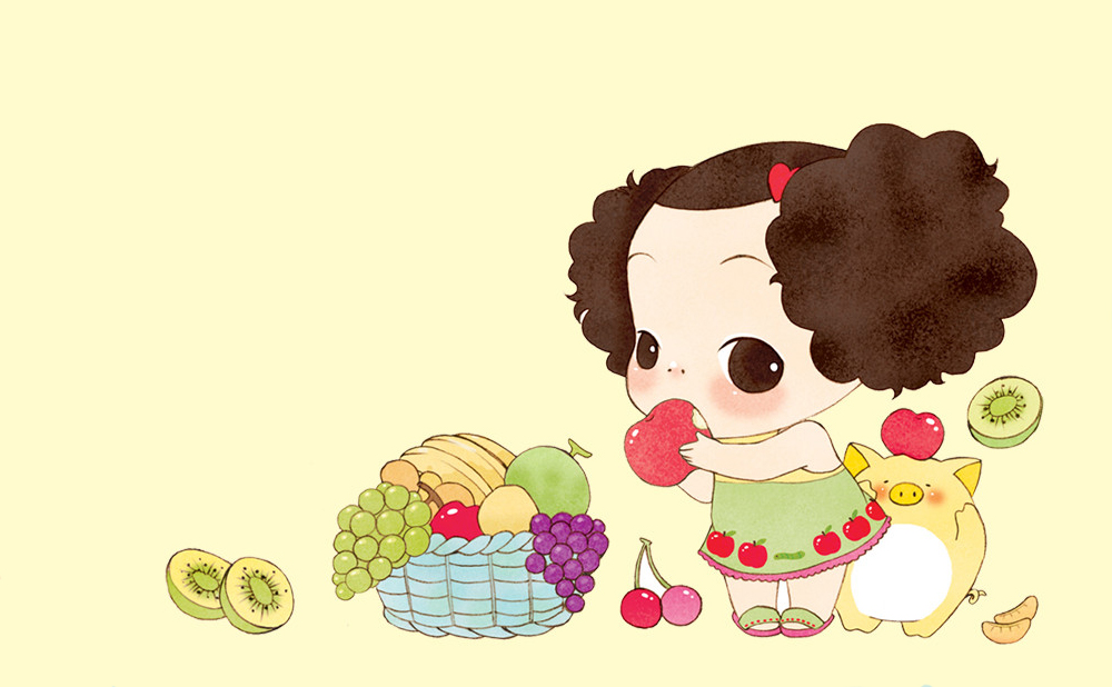 Descubriendo a Ddung. Hace poco descubrí a las muñecas Ddung y me parecieron tan graciosas y bonitas que no me pude resistir y me acabe comprando una por Ebay, comiendo fruta