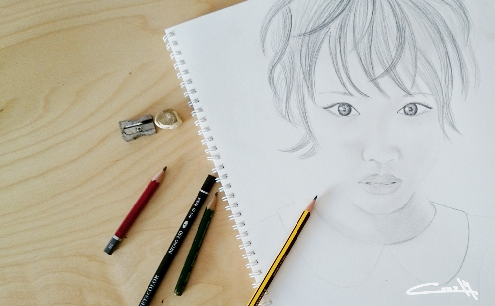 Dibujo a lápiz Retrato 01_1