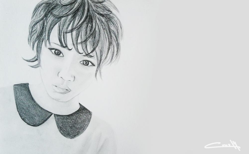 Dibujo a lápiz Retrato 01_3