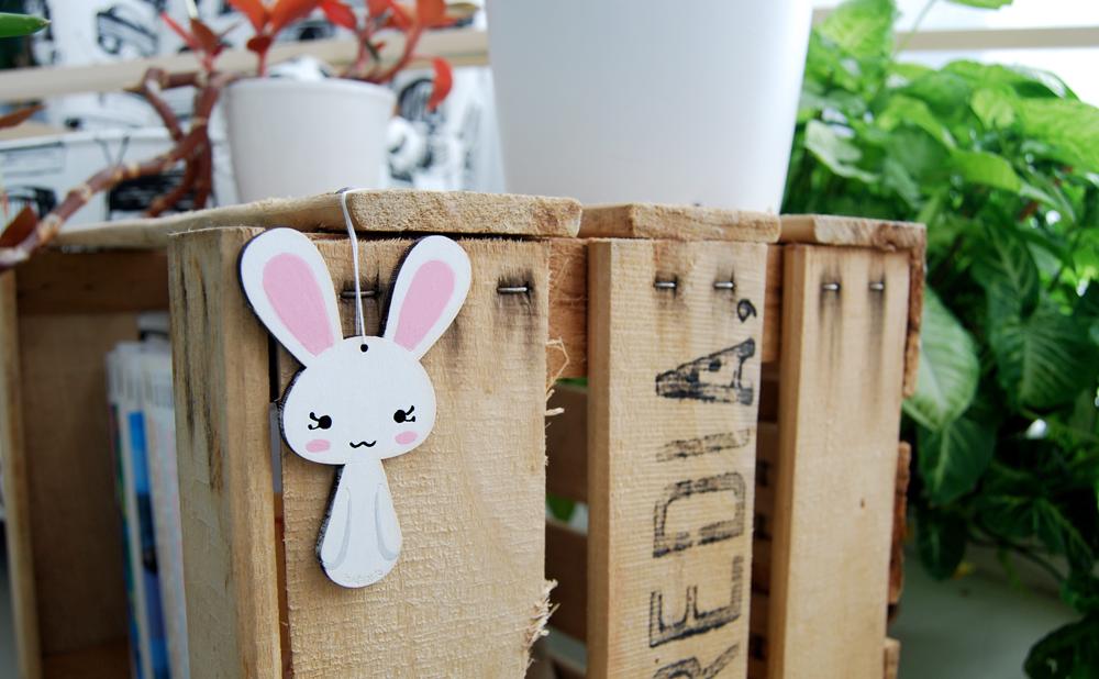 Animales en DM de madera para pintar. Conejo Kodomis