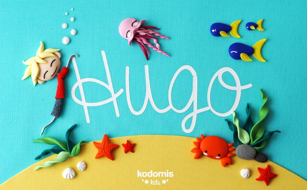 cuadros con nombres para niños Hugo 03