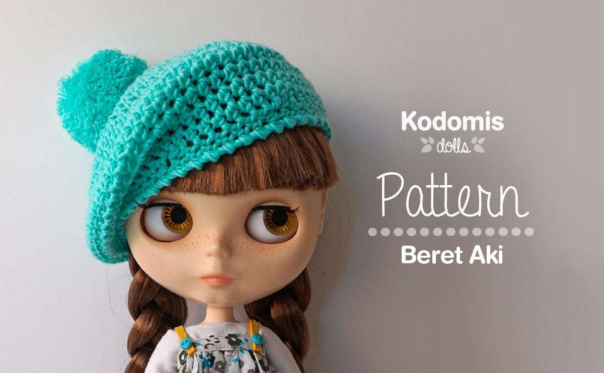 Patrones y tutoriales para Blythe, boina crochet