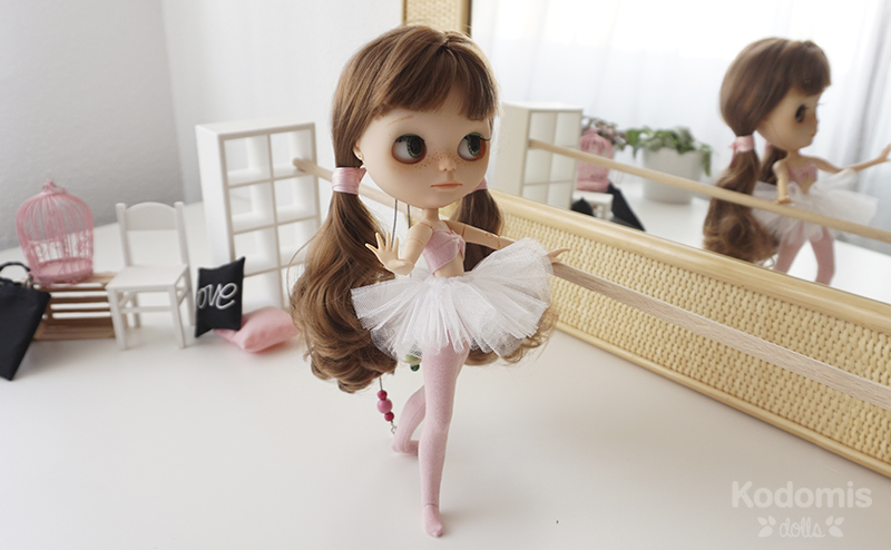 Blythe custom Midori Panda ballet