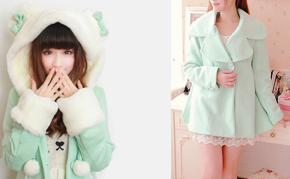 Abrigos kawaii mint