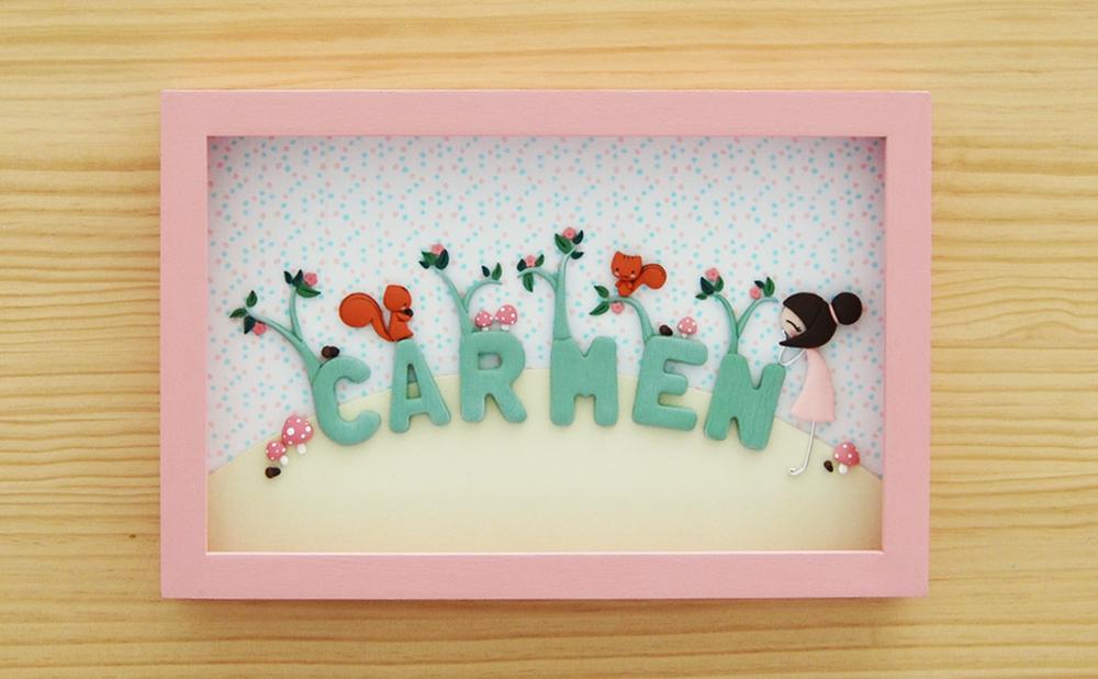 cuadro personalizado para Carmen