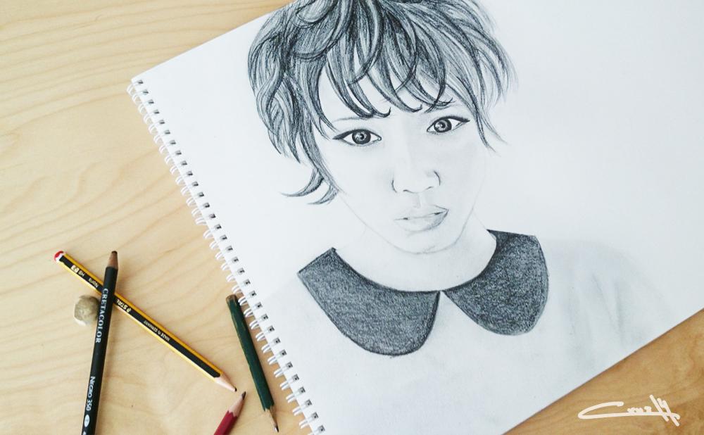 Dibujo a lápiz Retrato 01_2