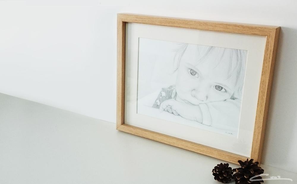 Retrato Leo lápiz