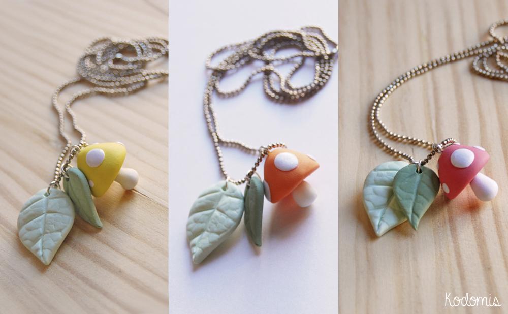 Setas kawaii, amarillo, naranja y rosa.