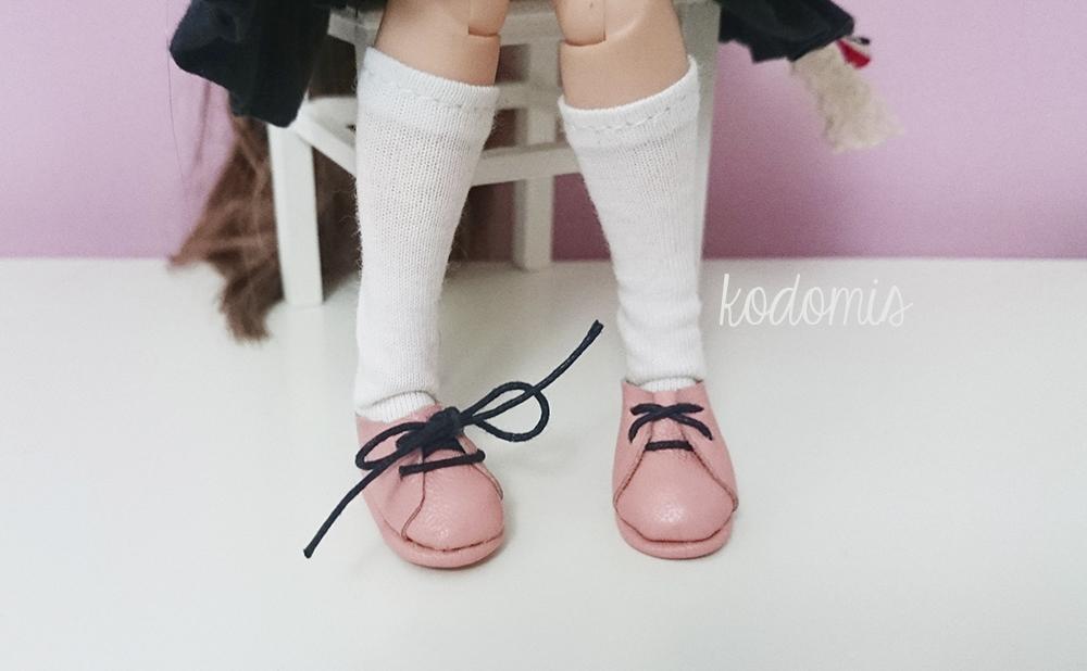 Zapatos para Blythe rosas 01