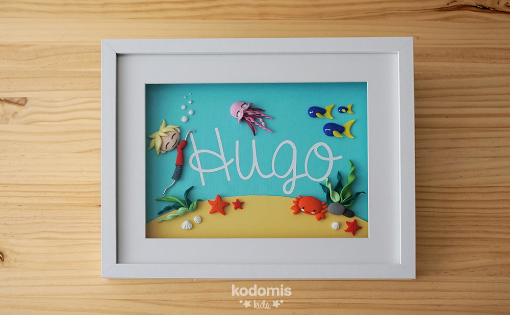 cuadros con nombres para niños Hugo 02