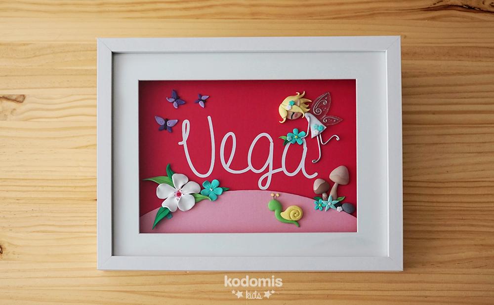 cuadros con nombres para niños Vega 02