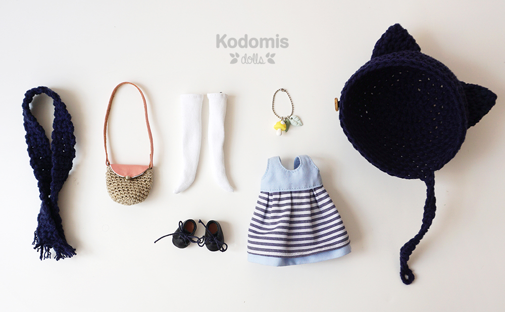 blythe custom kodomis, outfit Mei