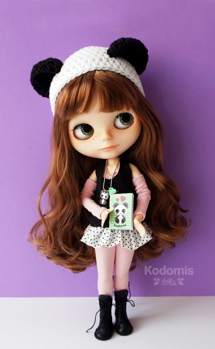 Blythe custom Midori Panda morado